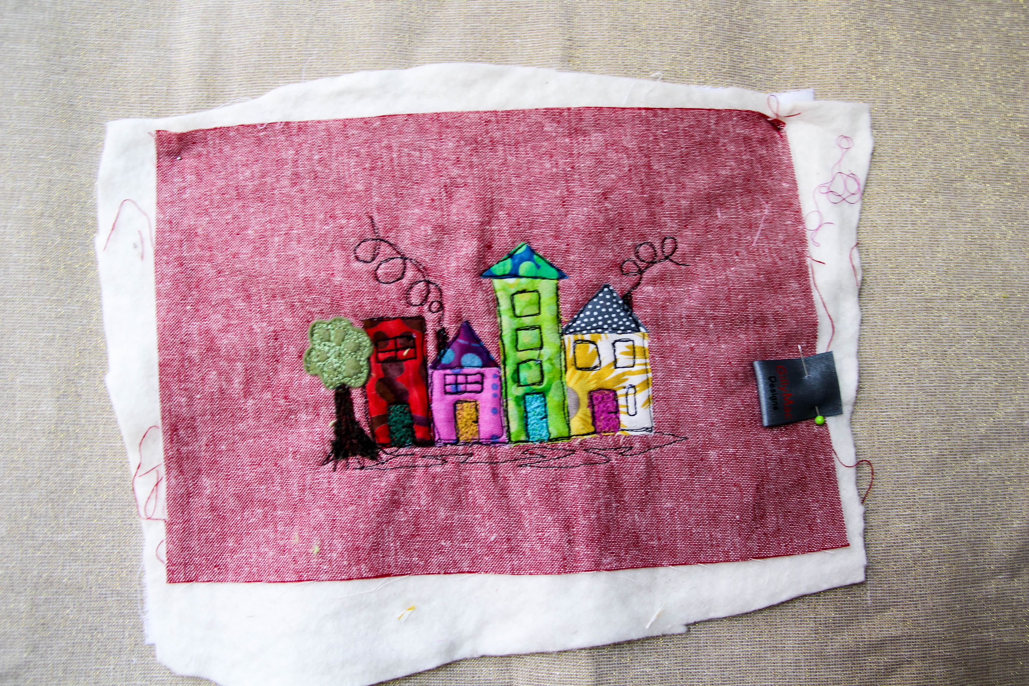 Gill towell free motion applique pic gillymac designs